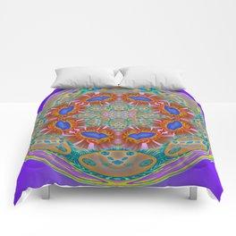 Indigo Glow Crown Chakra Mandala Comforters