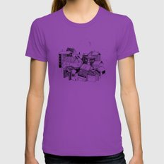 Book Town Womens Fitted Tee Ultraviolet X-LARGE