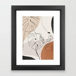 Minimal Abstract Art- Monstera Framed Art Print