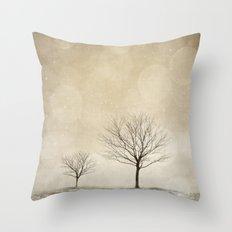 Snow Bokeh Wonderland  Throw Pillow