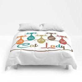 Crazy Cat Lady 2 Comforters