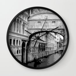 The Bridge of Sighs in Venice Italy Travel Wall Clock