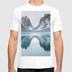 Toblacher See White MEDIUM Mens Fitted Tee