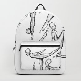 Gymnasts. Backpack