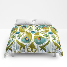 indian cucumbers balinese ikat print Comforters