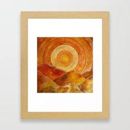 Sunset w.02 Framed Art Print