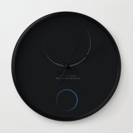Melancholia, Lars Von Trier, minimalist movie poster Wall Clock