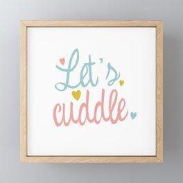 Let´s cuddle Framed Mini Art Print