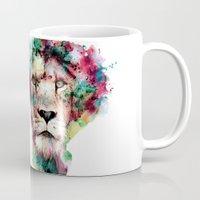 king Mugs featuring THE KING by RIZA PEKER