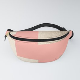 Simply Geometric White Gold Sands on Salmon Pink Fanny Pack