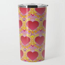 Peace and love pattern Travel Mug