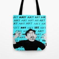 meme Tote Bags featuring Art Meme  by Madison Daniels