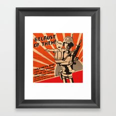Propaganda Series Framed Art Print