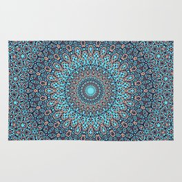 Tracery colorful pattern Rug