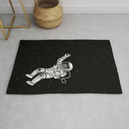 Astronaut in the outer space Rug