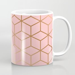 Pink and Gold Geometry 011 Coffee Mug