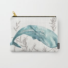 Sperm Whale Watercolor Carry-All Pouch