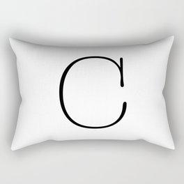 Letter C Typewriting Rectangular Pillow