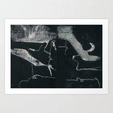 Entredois Invertido Art Print