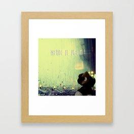 Merde il pleut! Framed Art Print