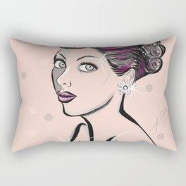 Glam 50's Woman Rectangular Pillow