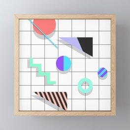 Memphis Things Framed Mini Art Print