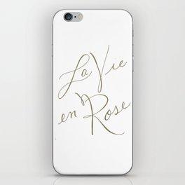 la vie en rose iPhone Skin