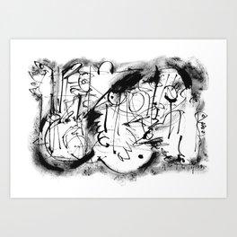 Free Your Spirit - b&w Art Print