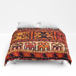 Image of a vintage carpet. Fluffy texture pattern Comforters