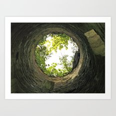 Into the pit - Lismore Towers Art Print
