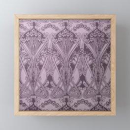 Lavender,art nouveau,vintage,beautiful,floral,belle époque,pattern,elegant, chic,modern,trendy Framed Mini Art Print