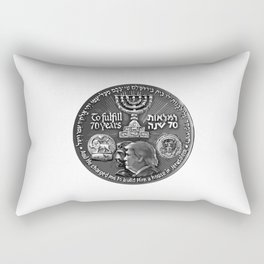 Trump Israel 70th Anniversary Temple Coin Art (Front Side) Rectangular Pillow