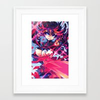 barachan Framed Art Prints featuring matoi by barachan