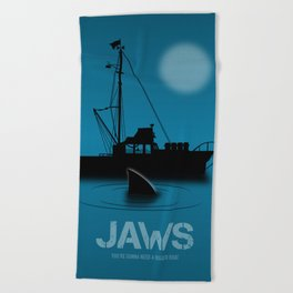 Jaws - Alternative Movie Poster Beach Towel