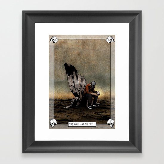 The Angel And The Skull Framed Art Print