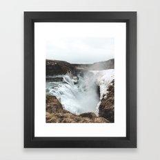 Gullfoss - Landscape Photography Framed Art Print