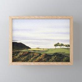 Torrey Pines South Golf Course Hole 3 Framed Mini Art Print