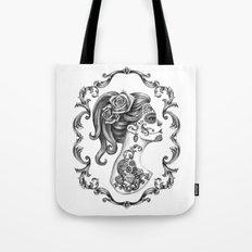 Sugar Skull Girl Cameo Tote Bag