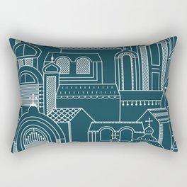Ukrainian Church Monochrome Rectangular Pillow
