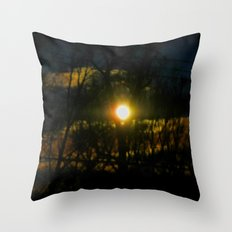 Electric Moonlight Throw Pillow