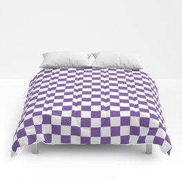 Purple Checkerboard Comforters