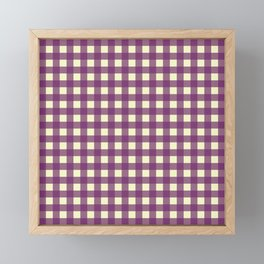 EGGPLANT CHECK Framed Mini Art Print