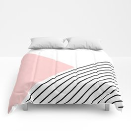 Pink angles and stripes Comforters