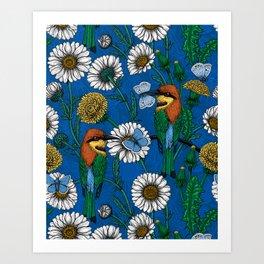 Bee eaters Art Print