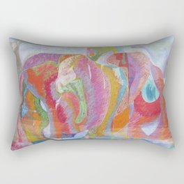 Timely Kiss Rectangular Pillow