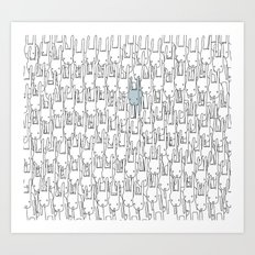 Outstanding Rabbit Art Print