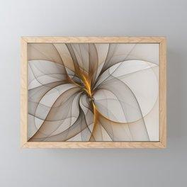 Elegant Chaos, Abstract Fractal Art Framed Mini Art Print