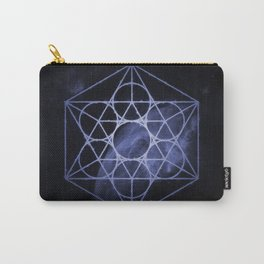sacred geometry 01 // blue Carry-All Pouch