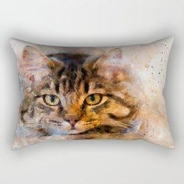 Watercolour cat portrait Rectangular Pillow