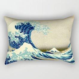 the great wave Rectangular Pillow